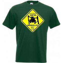 Tee-shirt Enfant Jumping Grenouilles vert bouteille