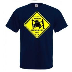 Tee-shirt Enfant Jumping Grenouilles bleu marine