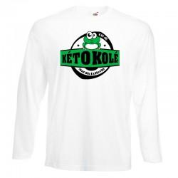 Tee-shirt blanc Adulte Kéto Kolé manches longues