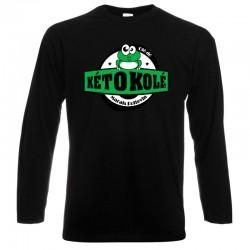 Tee-shirt noir Adulte Kéto Kolé manches longues