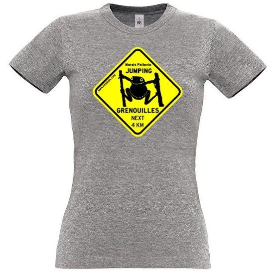 Grenouilles Jumping Shirt Femme Gris Tee wOn0v8mN