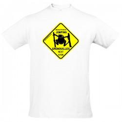 Tee-shirt Homme Jumping Grenouilles bleu marine