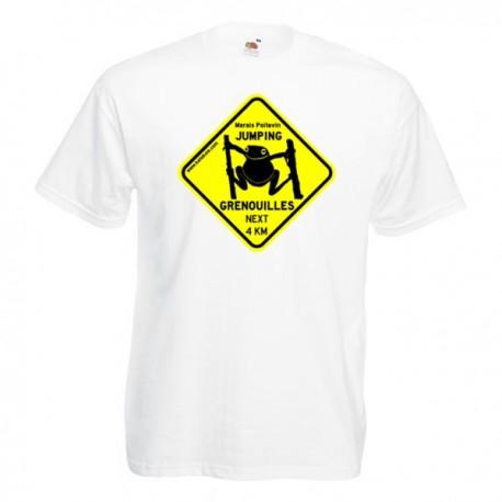 Tee-shirt Enfant Jumping Grenouilles blanc