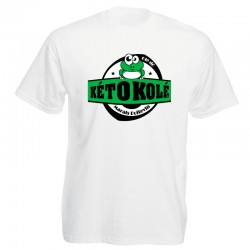 Tee-shirt blanc Adulte Kéto Kolé manches courtes