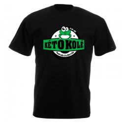 Tee-shirt noir Adulte Kéto Kolé manches courtes