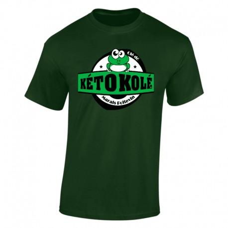Tee-shirt vert Adulte Kéto Kolé manches courtes