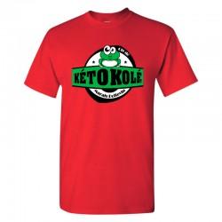 Tee-shirt rouge Adulte Kéto Kolé manches courtes