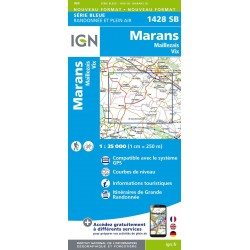 Carte IGN Top 25 Marans Maillezais Vix