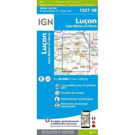 Carte IGN Top 25 Luçon St-Michel-en-l'Herm