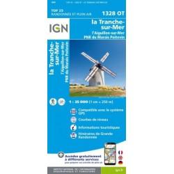 Carte IGN Top 25 La-Tranche-sur-Mer et l'Aiguillon-sur-Mer