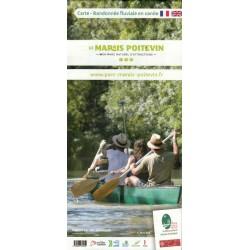 Carte - Randonnée fluviale en canoë dans le Marais Poitevin