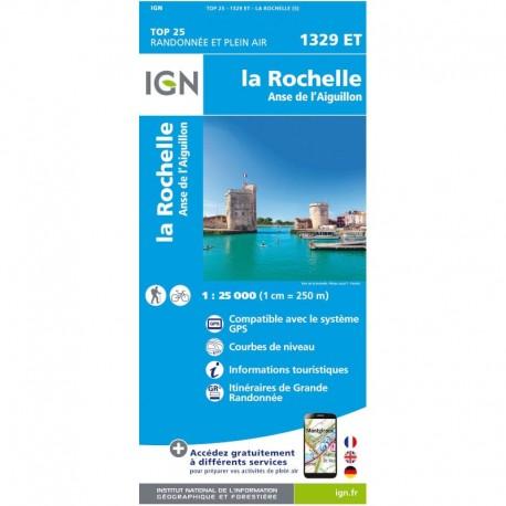 Carte IGN Top 25 La Rochelle et Anse de l'Aiguillon