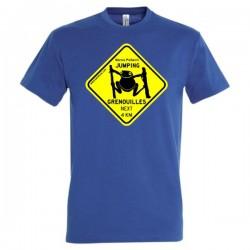 Tee-shirt Homme Jumping Grenouilles bleu navy