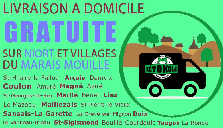 livraison gratuite kéto kolé niort et marais mouillé